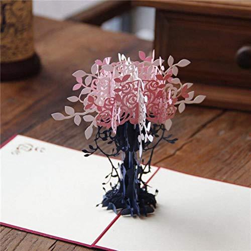 Yener Bruiloft Uitnodigingskaart 3D Chinese Draak Verjaardag wenskaarten Pop Up Paper Crafts Postkaart, A4