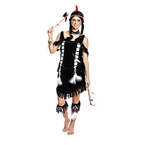 Kostümplanet® Indianerin-Kostüm Damen Indianer-Kostüm Wilder Westen Größe 36/38