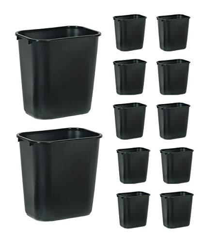Rubbermaid Papierkorb, 26, 6 Liter, rechteckig, PE, schwarz