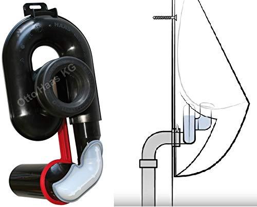 Urinalabsaugesiphon, höhenverstellbar um 65 mm, DN 50, waagerecht