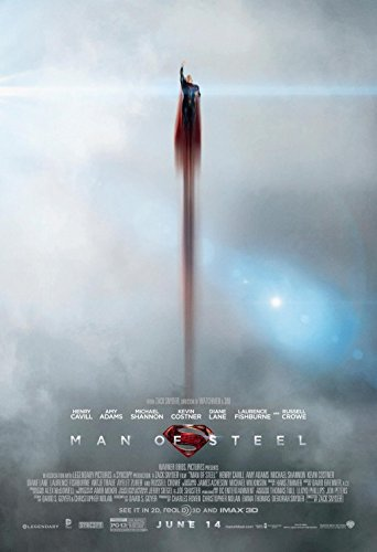 MAN OF STEEL (2013) Original Authentic Movie Promo Poster 11x17 - Henry Cavill - Amy Adams - Michael Shannon - Diane Lane
