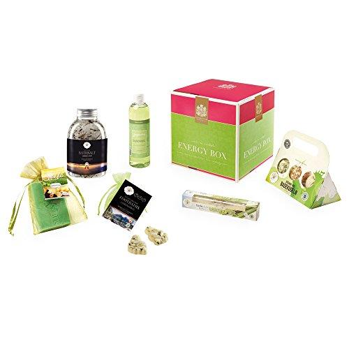 Die ENERGY BOX der Bademeisterei-Manufaktur erweckt müde Geister wieder zum Leben / 6 belebende Erfrischungskosmetikprodukte in einer tollen Geschenkbox / ausprobieren und munter in den Tag starten