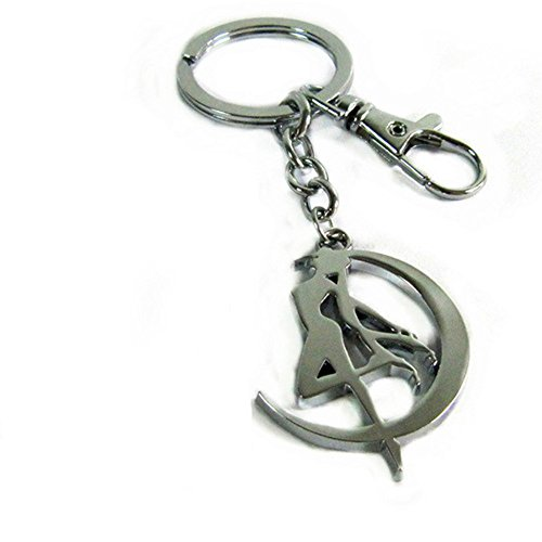 Anime Sailor Moon Tsukino Usagi Keychain Metal Figure Stainless Steel Toy Pendant Key Ring