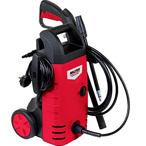 WALTER Hochdruckreiniger 230 V 1400 W (5m Hochdruckschlauch, Sprühpistole, Bajonett-Schnellverschluss)