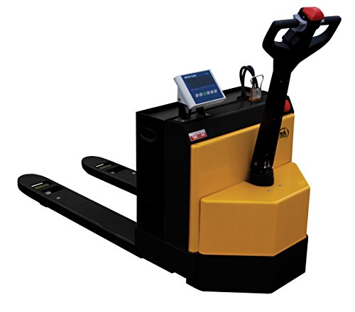Vestil EPT-2547-30-SCL Electric Pallet Truck with Scale, 3,000 lb. Capacity, 48' Length x 25' Width Forks