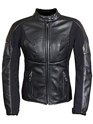 Richa Giacca Moto In Pelle Per Donna Kelly Nero (Eu 46 / Us 14, Nero)