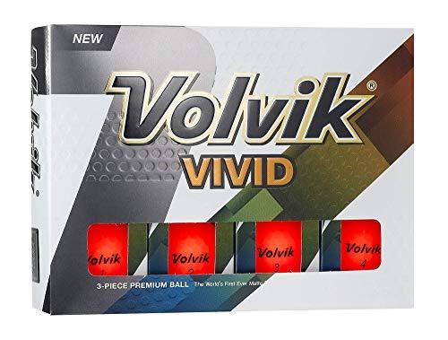 Volvik Vivid Golfbälle, 12 Stück, Unisex, 0000070, rot, One Dozen