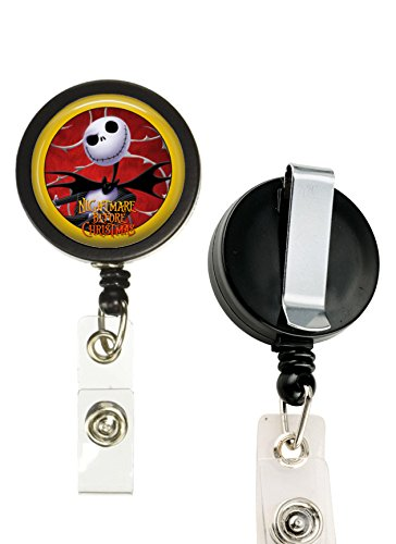 1 Nightmare Before Christmas Crafting Mania LLC ID Card Reel, Belt Clip, Extends up to 24