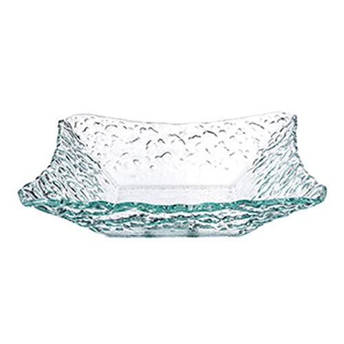 Platos de vidrio transparentes, Platos de ensalada creativos e irregulares y cuencos, Vajilla occidental del hogar A