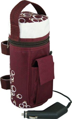 H+H BS 13 Flaschenwärmer (für Unterwegs Integriertes Thermostat, Einfache Bedienung, Tasche, Babykostwärmer mit Warmhaltefunktion, Mobiler Babyflaschenwärmer Auto 12V)