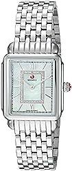 small MICHELE Ladies Decorative Watch Head Stainless Steel Swiss Quartz Bracelet, Silver, 11 (Model: MWW06I000026)