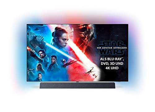Philips Ambilight 55OLED934/12 139 cm (55 Zoll) OLED+ Smart TV (4K UHD, P5 Pro Perfect Picture Engine, HDR 10+, Dolby Vision, Dolby Atmos, So& von Bowers und Wilkins, Android TV) [Modelljahr 2019]