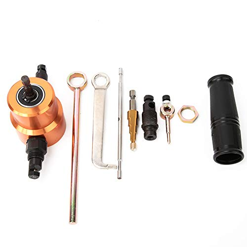 Nibbler de chapa, herramientas de corte de metal, corte de techo de corte de placa de metal de doble cabezal manual ajustable