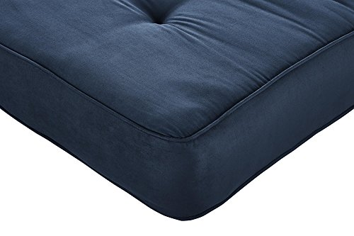 DHP Independently Encased Coil Futon Mattress with Foam Sofa bed, 8', Cobalt