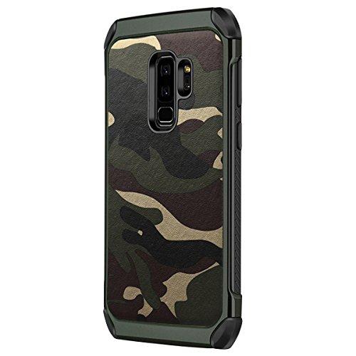 für Samsung Galaxy J1 Ace Case Abdeckung TPU Silikon + PC Doppelhülle Drop Cool Camouflage Jumping Handy-Fall für Samsung Galaxy J1 (Samsung Galaxy J1, Grün)