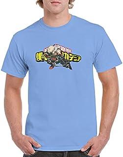 Haogege Women's Boku No He-ro Acad-emia Anime T Shirt M-y He-ro Acad-emia T-Shirt Casual Tshirt for Tops Adult Unisex T Sh...