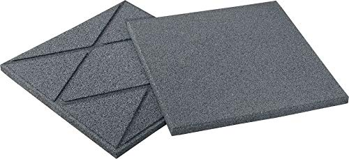Qualitäts Fallschutzmatte 500x500x25mm in Grau aus Gummi-Recyclinggranulat