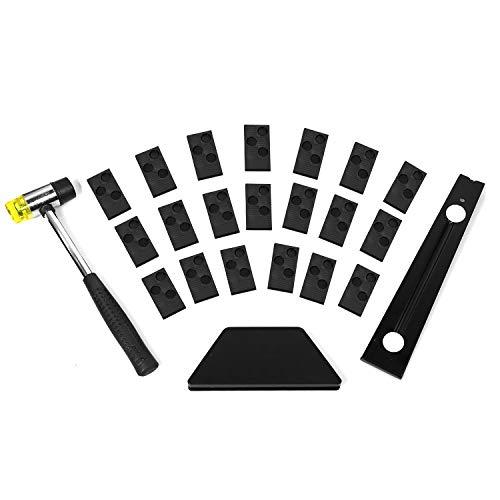 Kit de herramientas de instalación de suelos de madera laminada con barra extractora, bloque de...