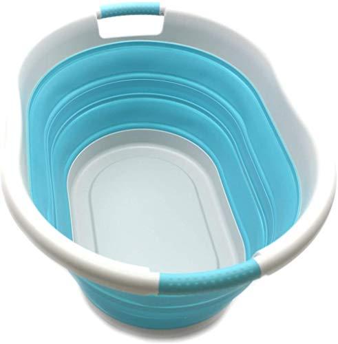 LHYLHY Foldable plastic laundry basket-oval bathtub/basket-foldable storage container/organizer-portable laundry bucket