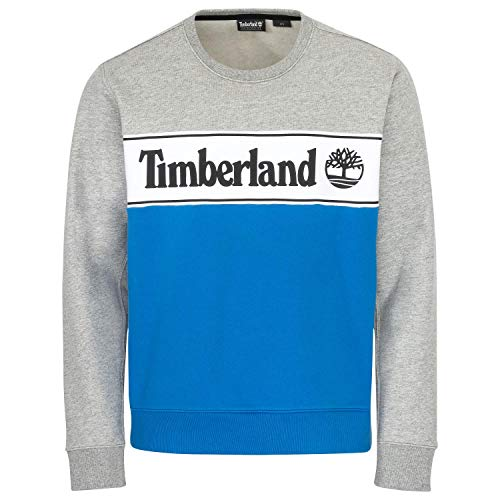 Timberland Hombre Sudadera con Logo de Cut & Sew, Gris