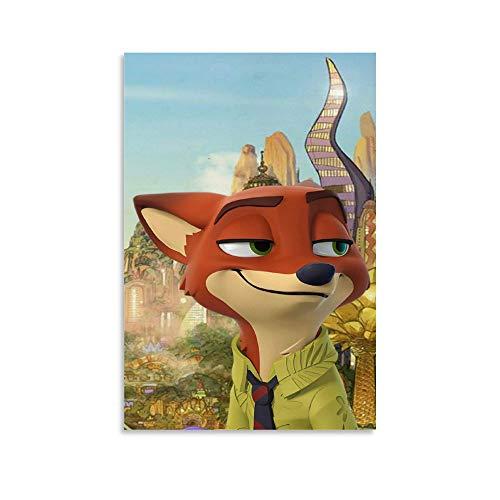 DRAGON VINES Zootopia Judy Hopps Bunnyburrow Nick Wilde Probieren Sie alles Poster Modern Ölgemälde Wandbild Schlafzimmer Kunstwerk 30 x 45 cm