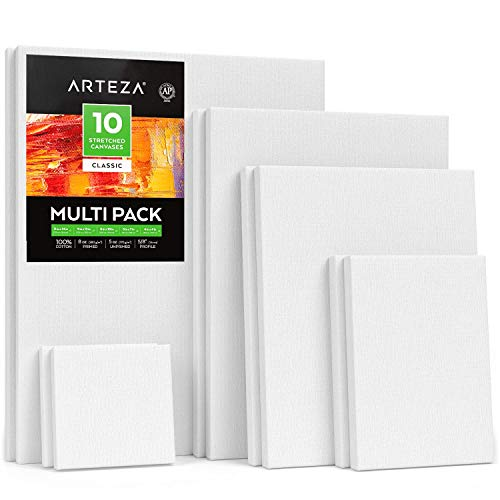 Art Supplies 3 Crawford and Black Stretched Canvases 9x12 Inch Brand New