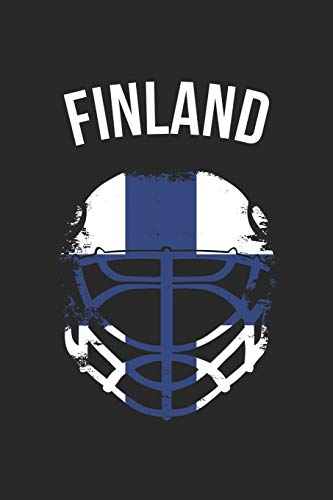 Finland Flag Hockey Helmet - Gift for Hockey Player - Finland Hockey Notebook - Hockey Diary: Unruled Blank Journey Diary, 110 blank pages, 6x9 (15.2 x 22.9 cm)
