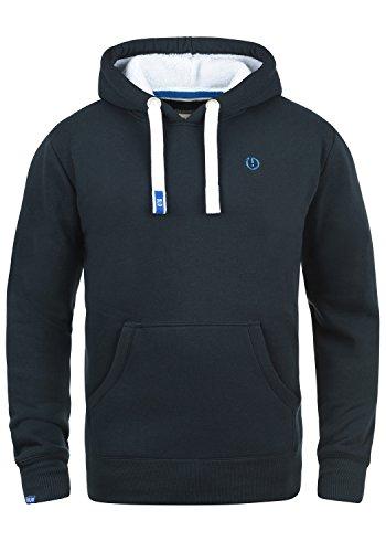 !Solid BennHood Pile Herren Kapuzenpullover Hoodie Sweatshirt Mit Teddy-Futter, Größe:M, Farbe:Ins Blue P (P1991)