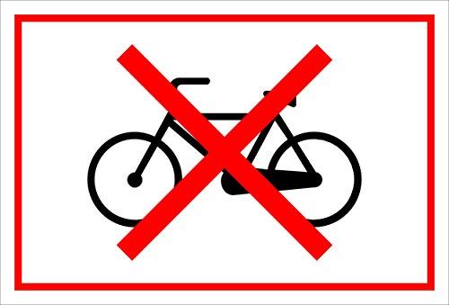 Melis Folienwerkstatt Schild - Fahrräder verboten - 30x20cm   3mm Hartschaum – S00050-050-B -20 Varianten