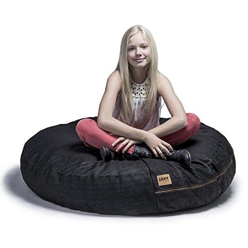 Jaxx 4 ft Cocoon Bean Bag Chair, Black Denim