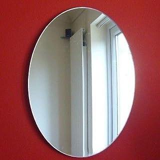 Espejo de pared ovalado, plástico, 12 x 9 cm