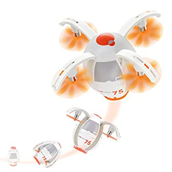 Tenergy TDR RC Quadcopter Egg Drone One-key Stunt Move Remote Control Drone 2.4G 360 Degree Rolling Transformable Small Drone Auto Hover Flying Drones for Beginners