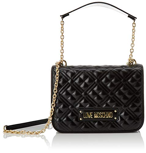 Love Moschino Jc4201pp0a, Borsa a Tracolla Donna, Nero (Black Quilted), 9x19x26 cm (W x H x L)