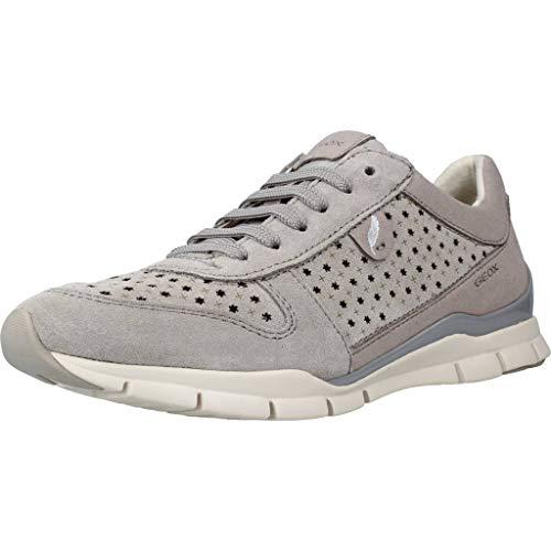 Geox Sportschuhe für Damen D52F2A 022AU D Sukie C1414 LT Grey Schuhgröße 36
