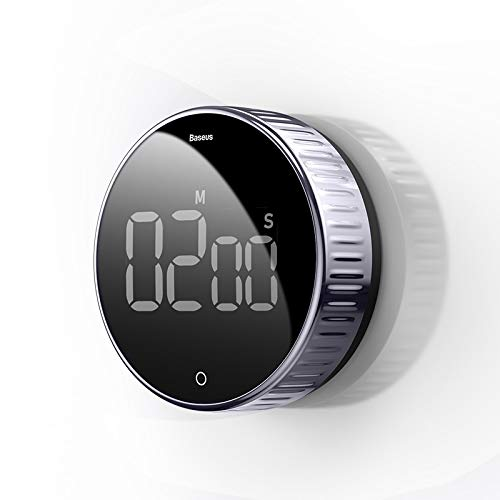 YMYGCC Temporizador De Cocina Temporizador de Cocina Digital para cocinar Ducha Estudio Cronómetro Reloj de Alarma Magnético Electrónico COCCIÓN COCCIÓN Tiempo Temporizador (Color : Black)