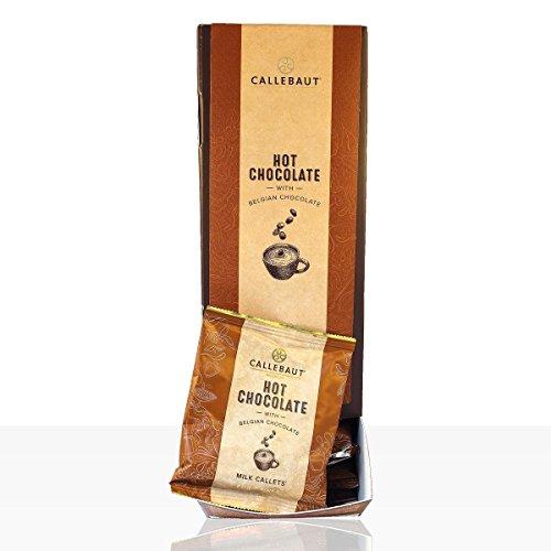 Callebaut Hot Chocolate Milk Callets, Vollmilch Schokolade zum Anrühren in Milch, 33,6% Kakao, 25x35g im Spender