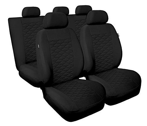 Carpendo Sitzbezüge Auto Set Autositzbezüge Schonbezüge Schwarz Vordersitze und Rücksitze mit Airbag System - MP 1