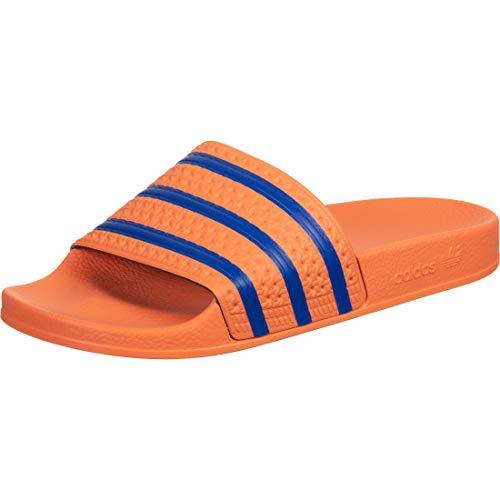 adidas Herren Adilette Flip Flops, Orange(Amber Tint/Glory Blue/Amber Tint), 39 EU