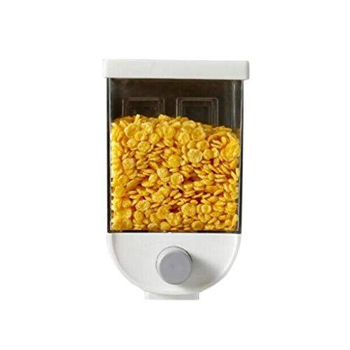 Moent Easy Press- Küchenlebensmittel-Aufbewahrungsbehälter Getreidespender Haferflocken Wandmontage, Küchen-Lebensmittelaufbewahrungsbehälter Getreidespender Haferflocken-Wandhalterung