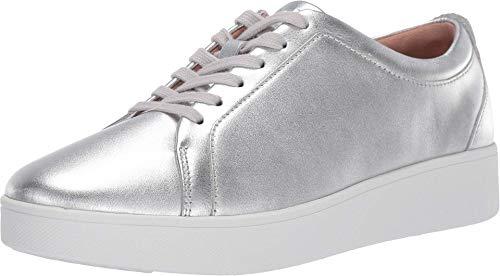 FitFlop Rally Sneakers, Zapatillas sin Cordones Mujer, Silver (Silver 011), 39 EU