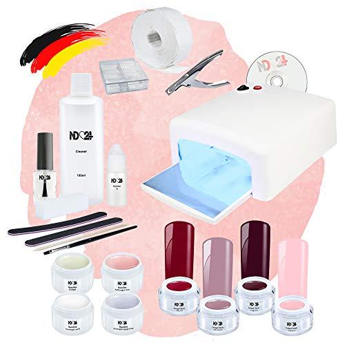 Nagelstudio Starter Set UV Premium Mit Allem Zubehör + Amarena Cherry Gele Made in Germany