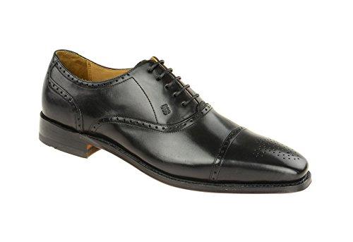 Gordon & Bros Lucquin 2830 Herren Businessschuhe, Schnürhalbschuhe, Anzugsschuhe, Derby Goodyear Leder Schwarz (Black), EU 42