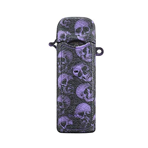 DSC-Mart Texture Case for Smok Nord Kit Box Mod Protective Silicone Rubber Sleeve Cover Shield Wrap (Purple Skull)