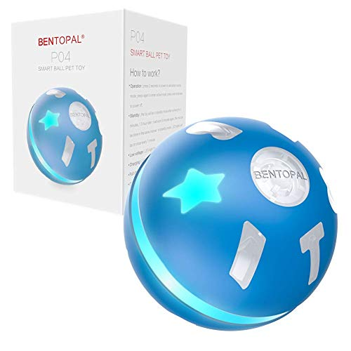 BENTOPAL Interactive Dog Toy Wicked Ball for Indoor Cats / Dogs with Motion Activated / USB Rechargeable (Blue)