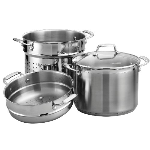 Tramontina Gourmet Tri-ply Base Stainless Steel 4-Piece 8-Quart Multi-Cooker
