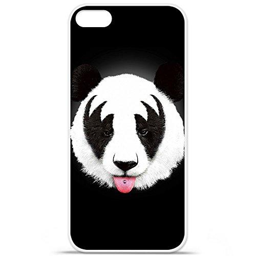 RF Kiss Of Panda - Cover per Apple iPhone 5/5S, in silicone gel, protezione posteriore