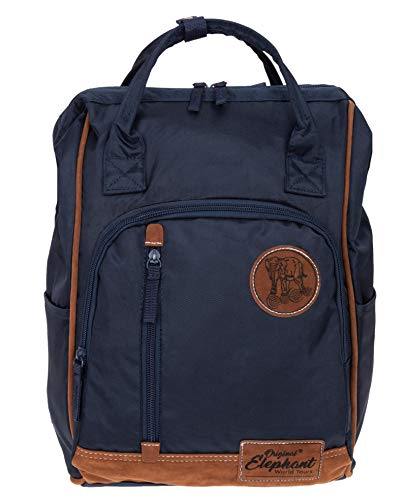 Elephant Rucksack Finn Tasche A4 Daypack Bürorucksack Damen Herren Freizeitrucksack 5072 + Schlüsseletui (Blue (Blau))