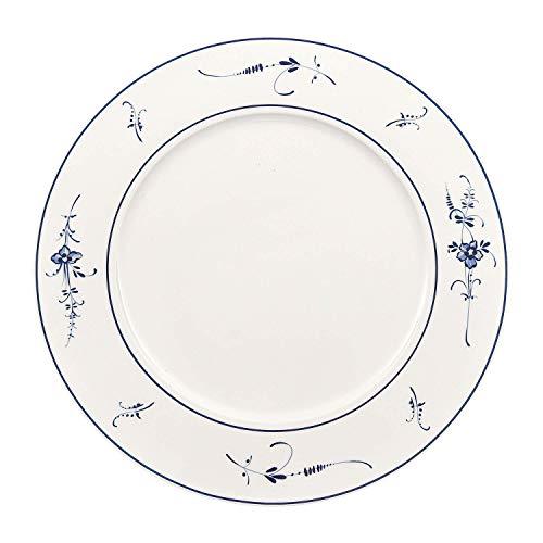 Villeroy & Boch Vieux Luxembourg Assiette de Présentation, 30 cm, Porcelaine Premium, Blanc/Bleu