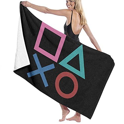 Playstation Joypad toalla de playa toalla de baño suave absorción uso diario deportes al aire libre viajes natación 80x130cm