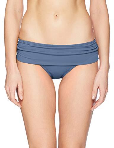 La Blanca Women's Island Goddess Shirred Band Hipster Bikini Swimsuit Bottom, Blue Moon, 10